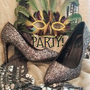 """🥂Ultimate Bling Party Heels, Size 7.5, 4"""" Heels"""